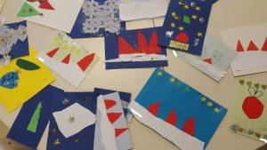 Esikoululaiset halusivat ilahduttaa vanhuksia joulun alla itse tehdyillä korteilla ja lauluesityksillä.