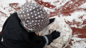 Tästä tulee lumiukko!