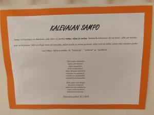 paperilla tekstiä Kalevalasta.