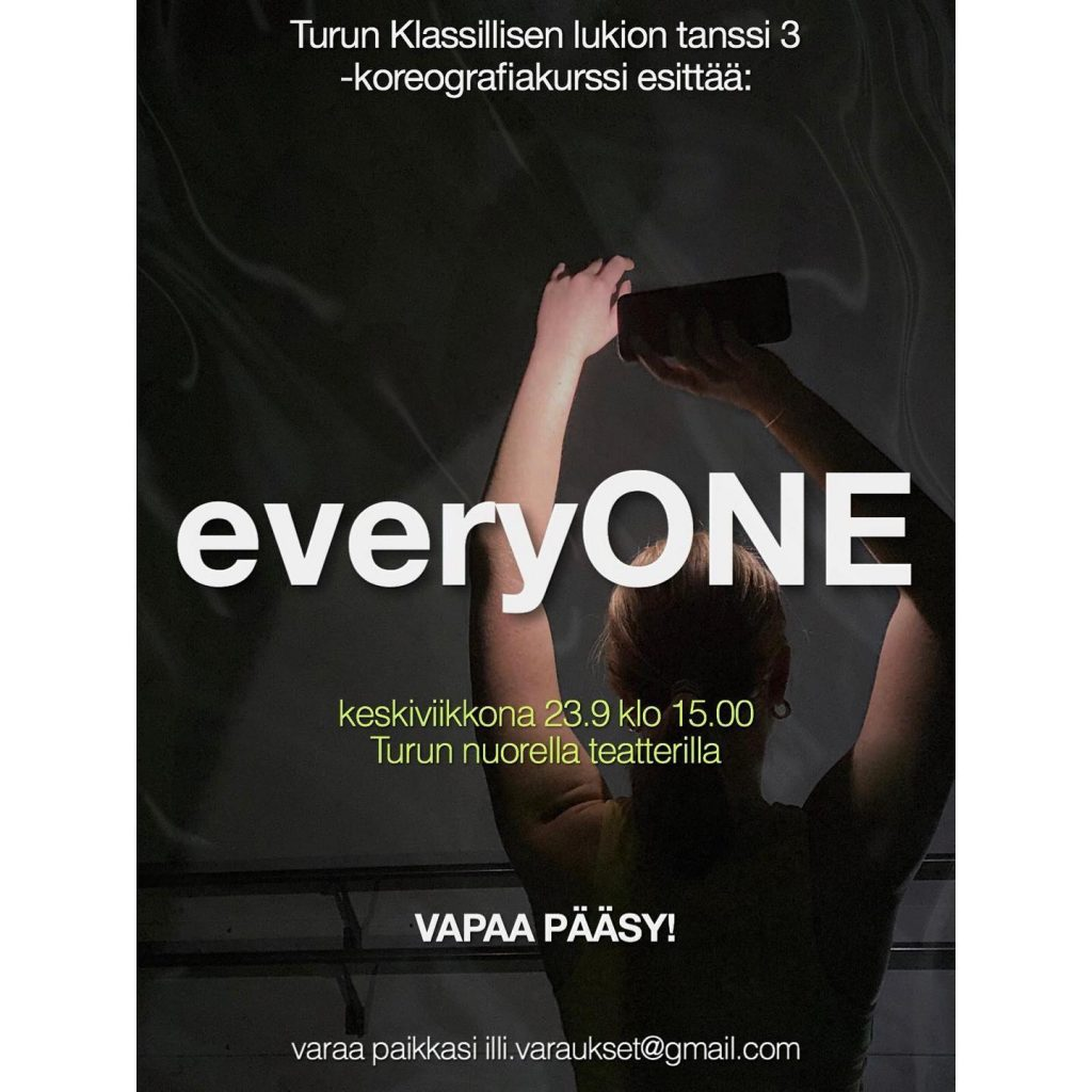 everyONE-esityksen mainoskuva