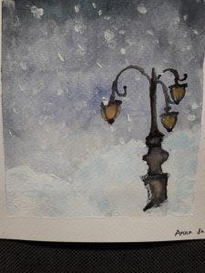 Katuvalot lumipyryssä
