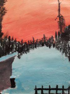 Punainen talvitaivas