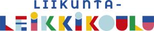 Värikäs liikuntaleikkikoulun logoteksti.