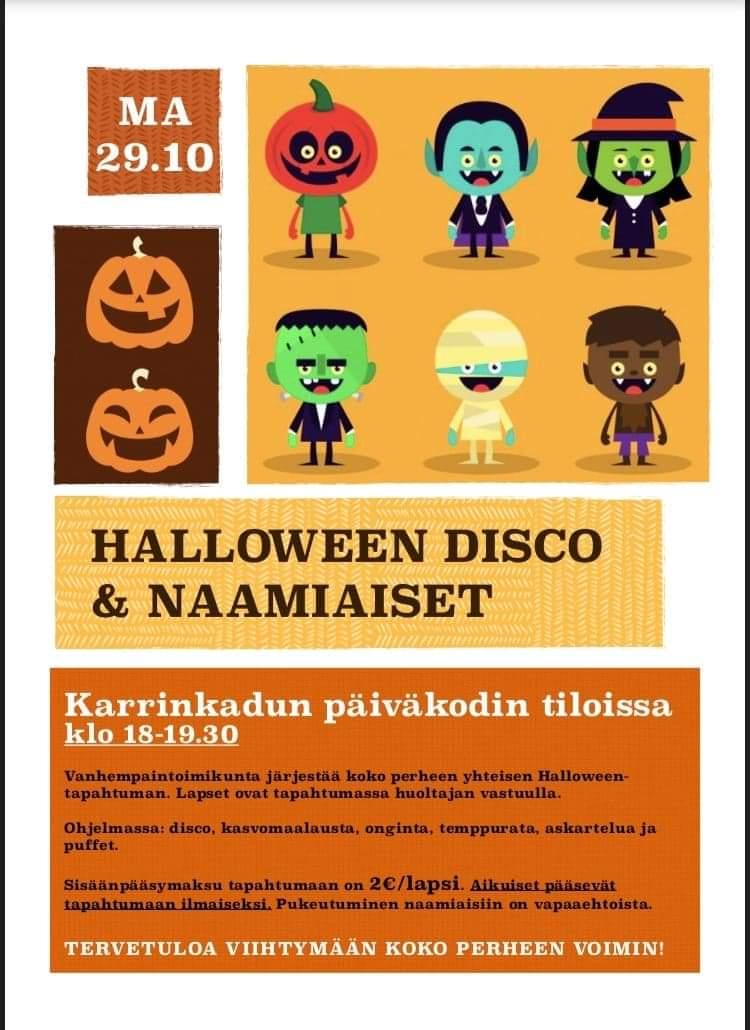 Halloween tapahtuman juliste.