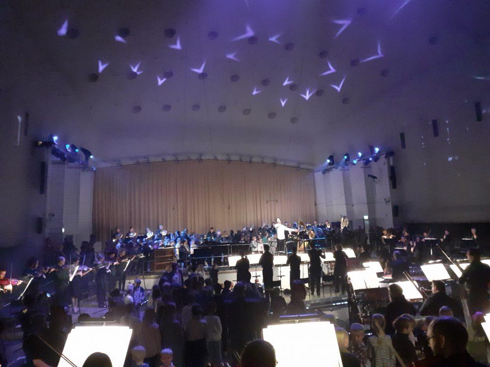 Kuva Turun konserttitalon Open Orchestra koulaiskonsertista