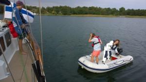 Lähdössä ottamaan meribiologian näytteitä Jungfruskärissä