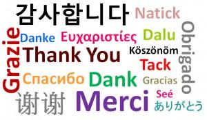 kiitos eri kielillä