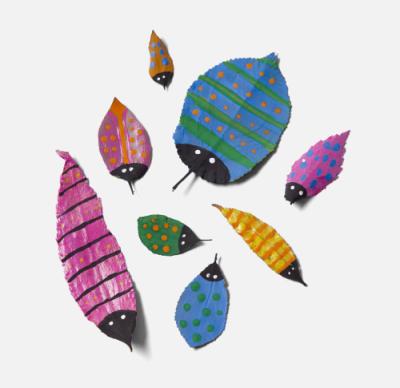 Gör egna insekter av blad.