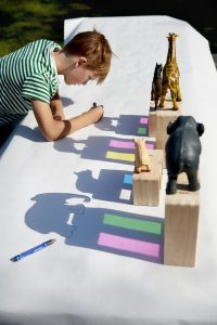 The shadows of an object can become an interesting peace of art.