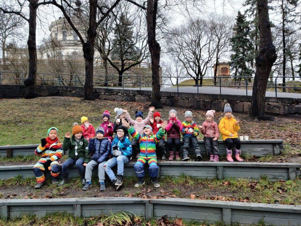 elever i parken