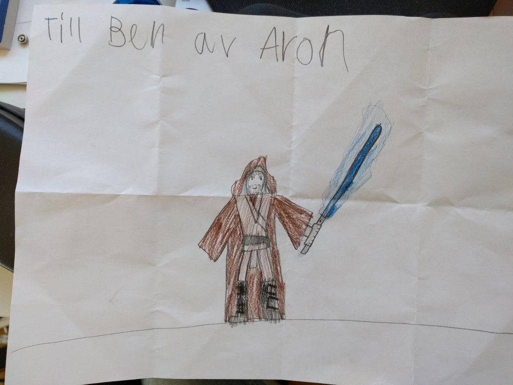 Jag som Star Wars-hjälte.
