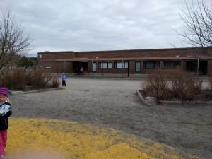 Skolbyggnaden.