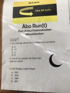 Åbo Run(t) uppgifter.