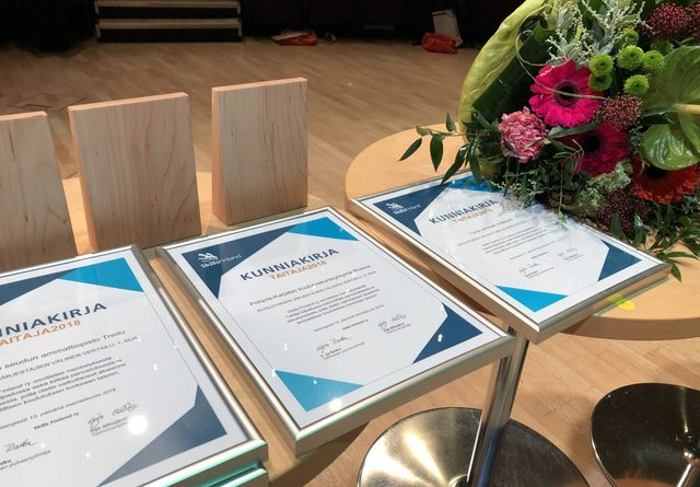 Turun ammatti-instituutin Taitaja-kilpailuissa saavuttama menestys