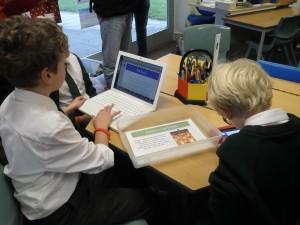 Macbookit oppilaiden käytössä