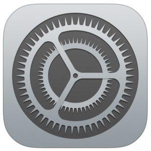 Kuvassa on iPadin Asetukset -kuvakkeen kuva.
