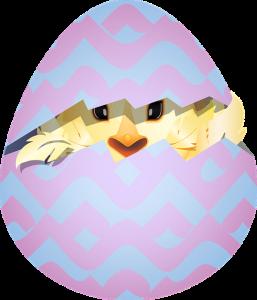 pääsiäismuna josta kurkistaa pääsiäismunasta.