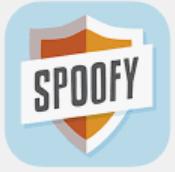 Spoofy pelin logo, missä lukee spoofy.